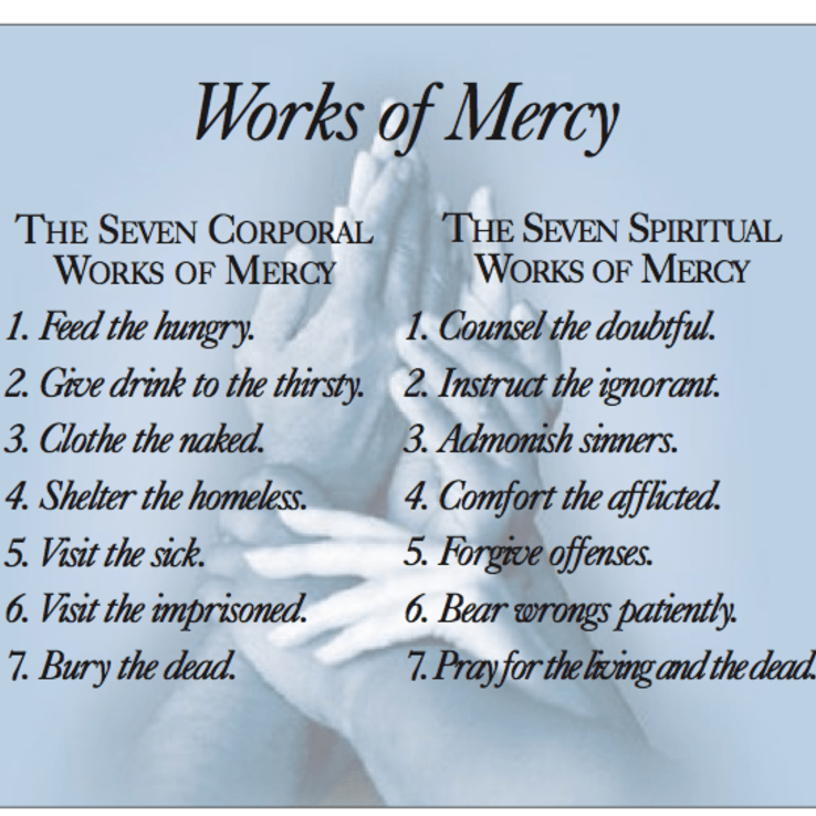 bear wrongs patiently spiritual works of mercy - 598×543