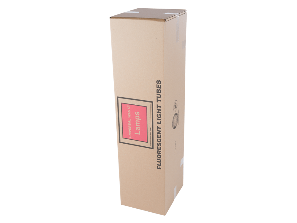 Fluorescent Light Bulb Storage Container