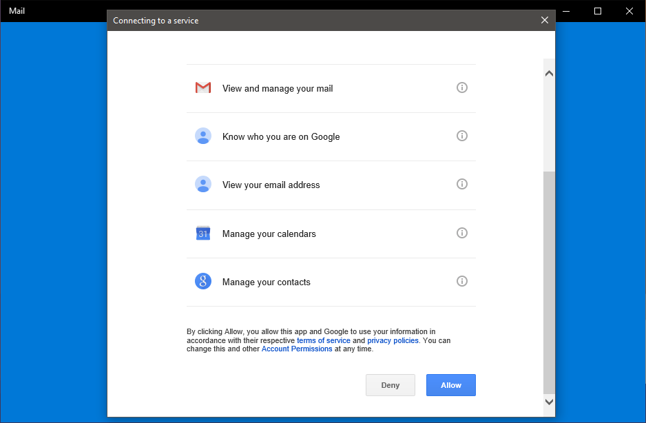 add gmail to windows 10 mail steps 5