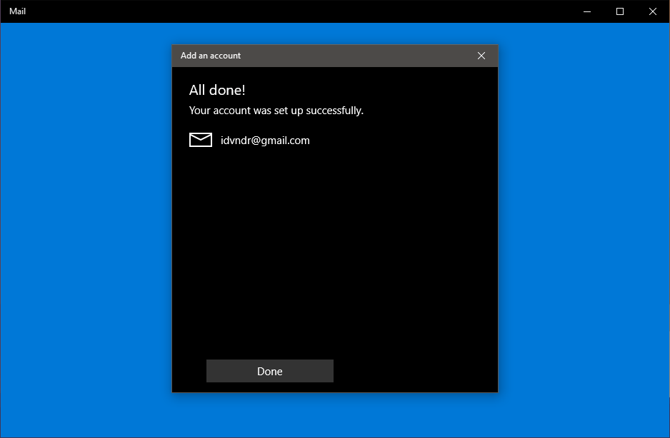 add gmail to windows 10 mail steps 6