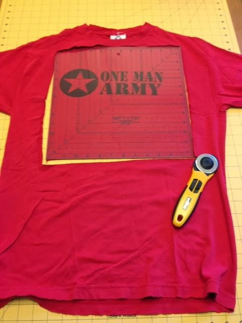 T Shirt Rag Quilt Tutorial