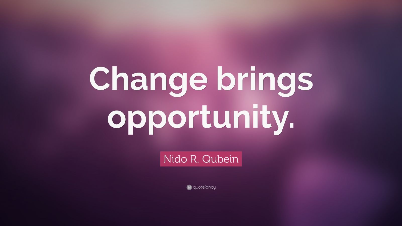Nido R Qubein Quote Change Brings Opportunity 18