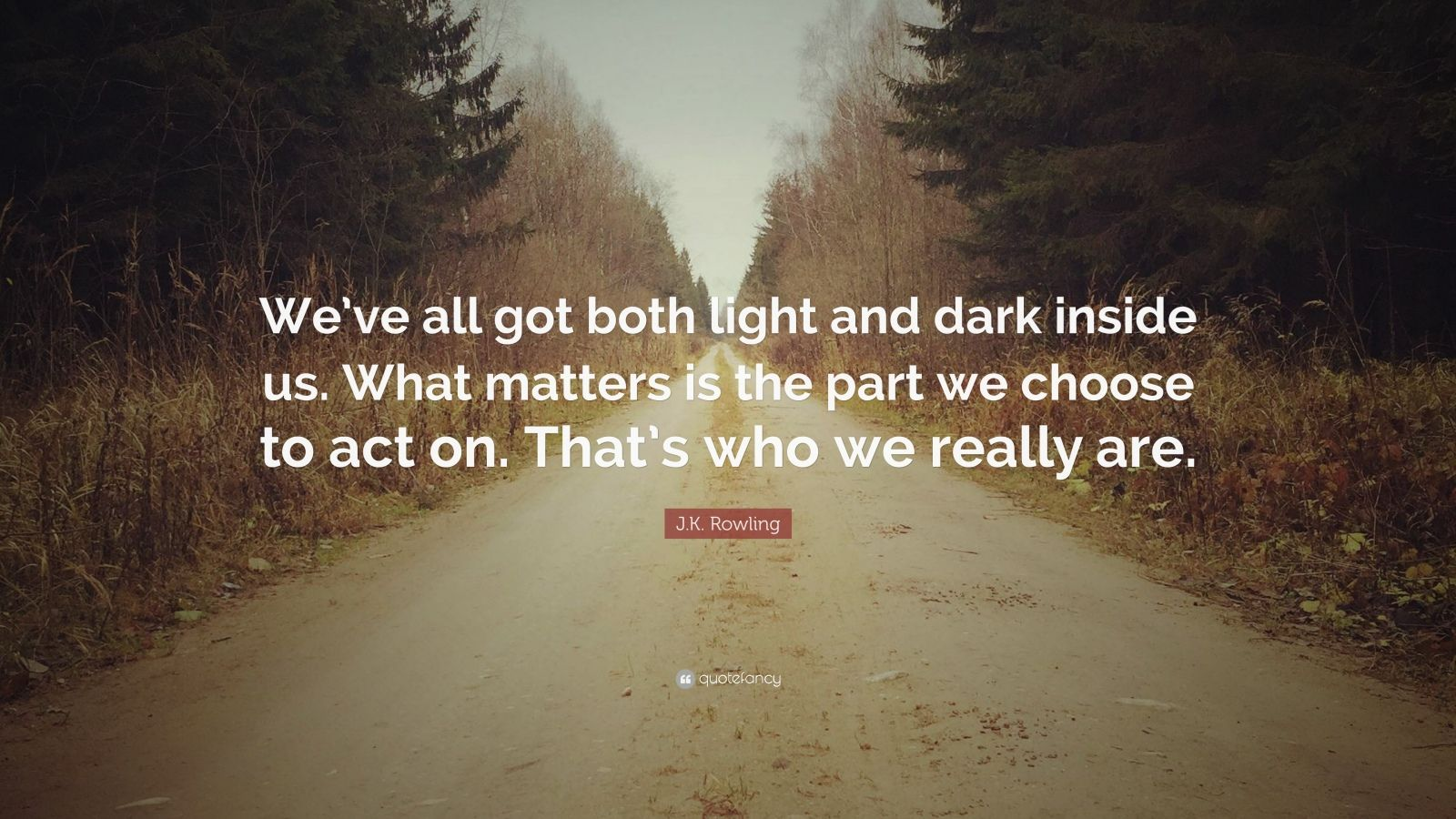 J K Rowling Quote We Ve All Got Both Light And Dark