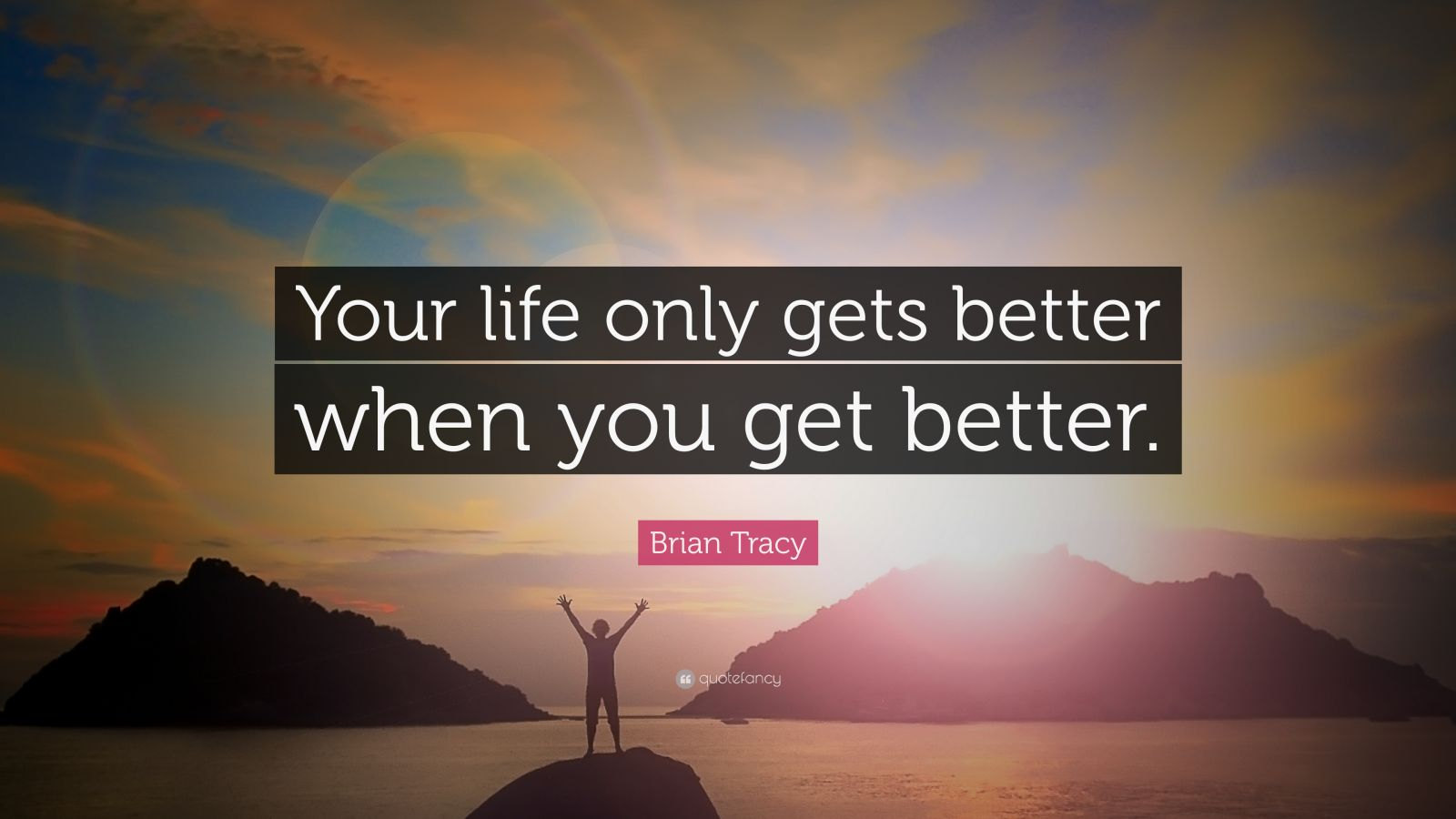 Brian Tracy Quotes  100 wallpapers    Quotefancy Brian Tracy Quote     Your life only gets better when you get better