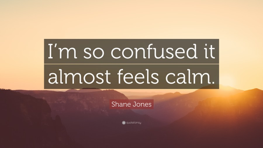 Shane Jones Quotes  4 wallpapers    Quotefancy Shane Jones Quote     I m so confused it almost feels calm