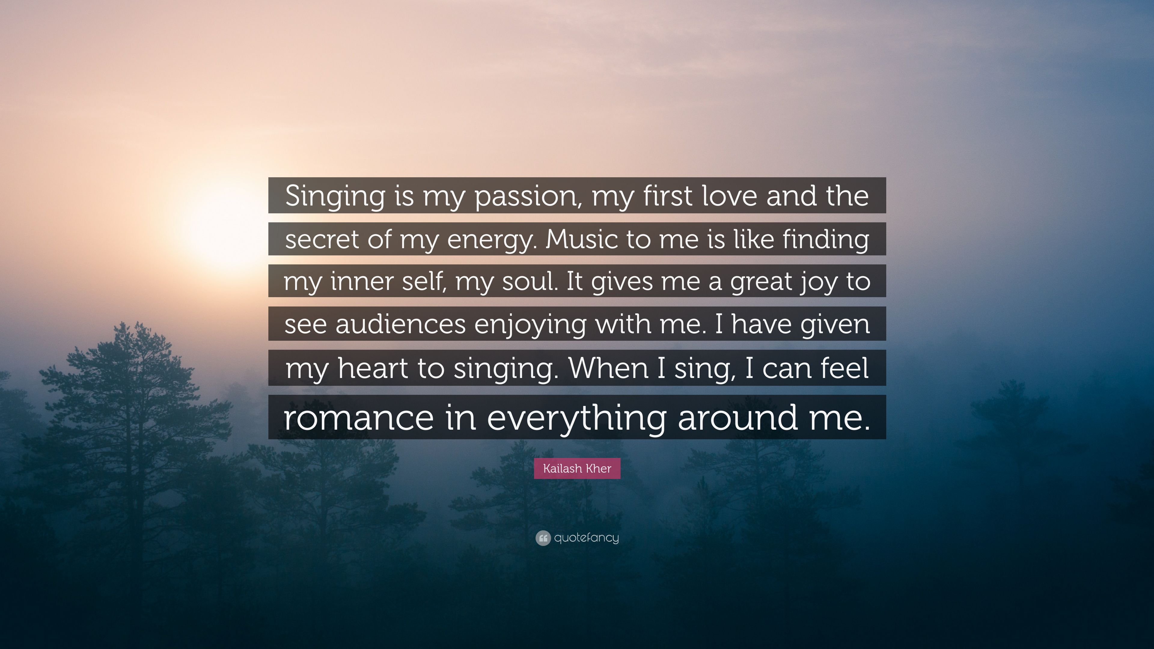 Singing My Passion Quotes