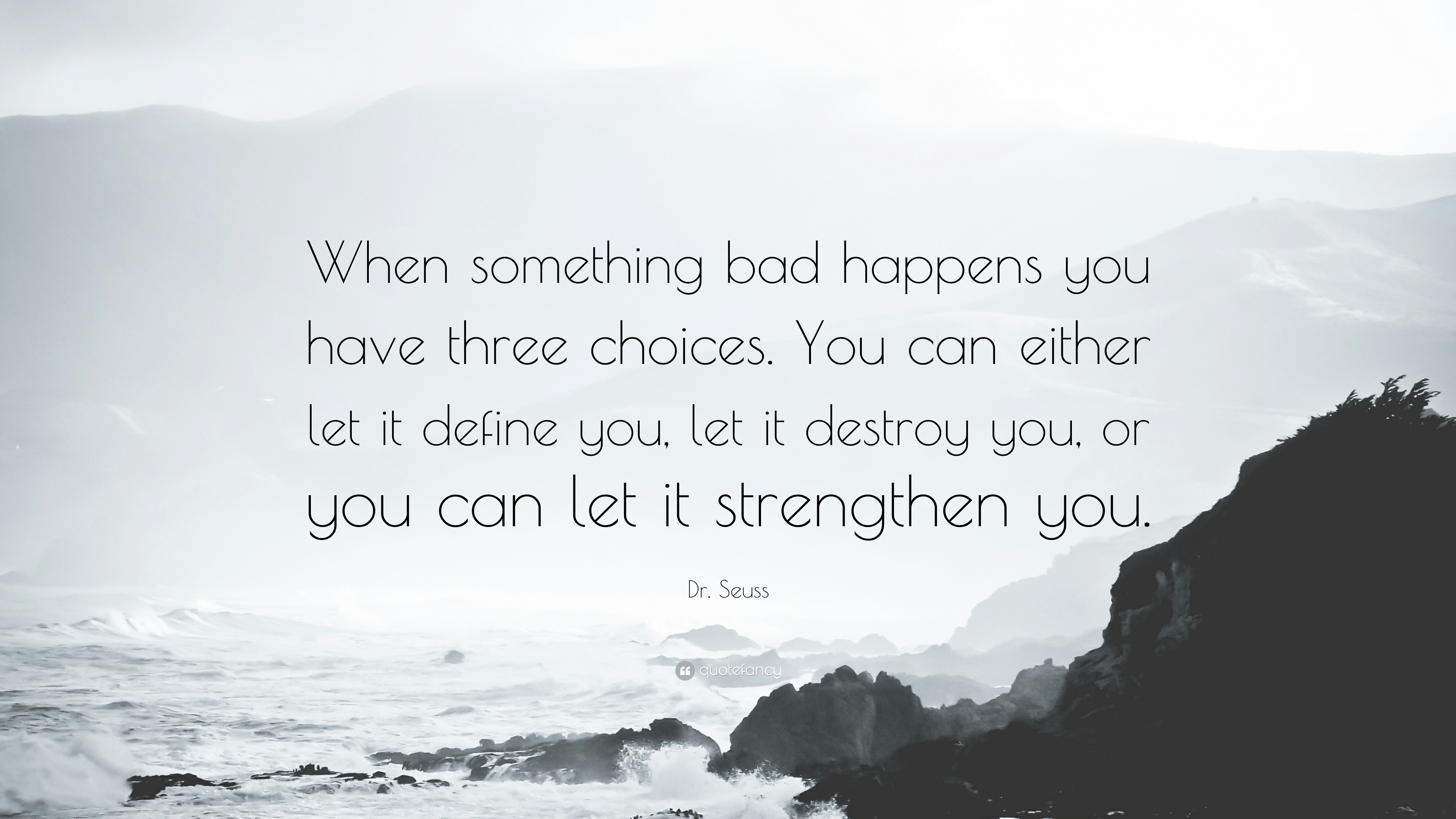 Dr  Seuss Quote     When something bad happens you have three choices     Dr  Seuss Quote     When something bad happens you have three choices  You