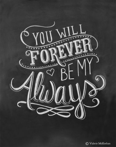 Love Quotes For Him   For Her  Wedding Print   You Will Forever Be     Best love Sayings   Quotes