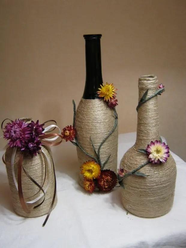Botol hiasan dalam gaya desa