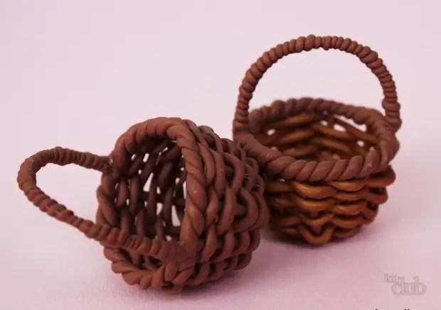 Esta cesta maravilhosa é obtida a partir da argila polimérica.