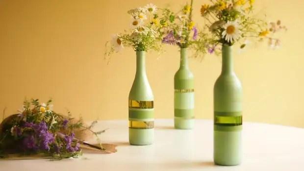 Botol lukisan untuk bunga