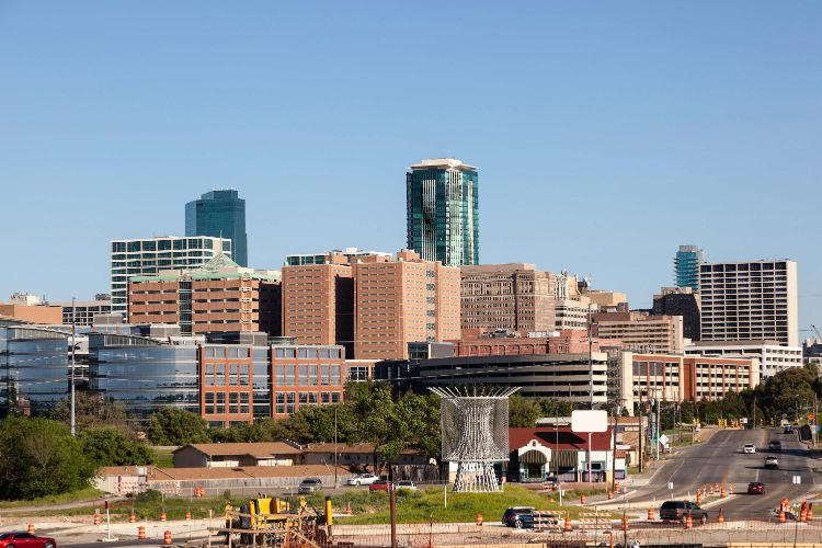 A view of the city in Fort Worth Texas