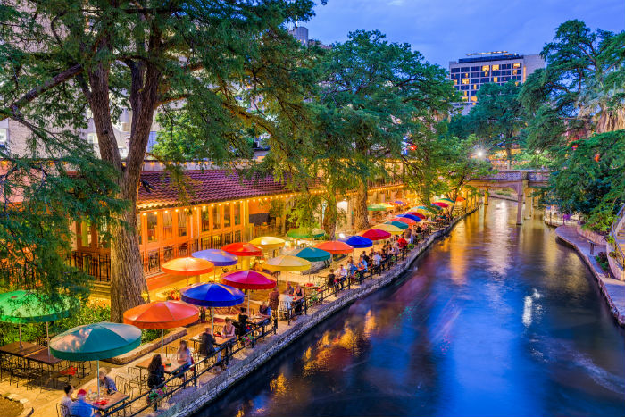 View of River Walk in San Antonio Texas