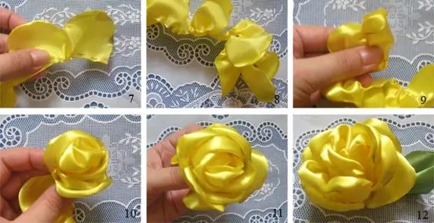 테이프에서 간단한 장미. 마스터 반