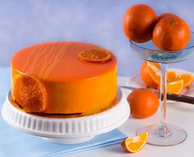 Как украсить торт мандаринами и глазурью
