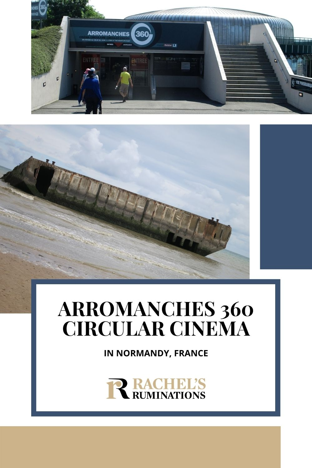 """My oh-so-laconic son, on exiting Arromanches 360 circular cinema, which depicts the D-Day invasion, remarked, """"Even I found this one moving,"""" Read the review here. via @rachelsruminations"""