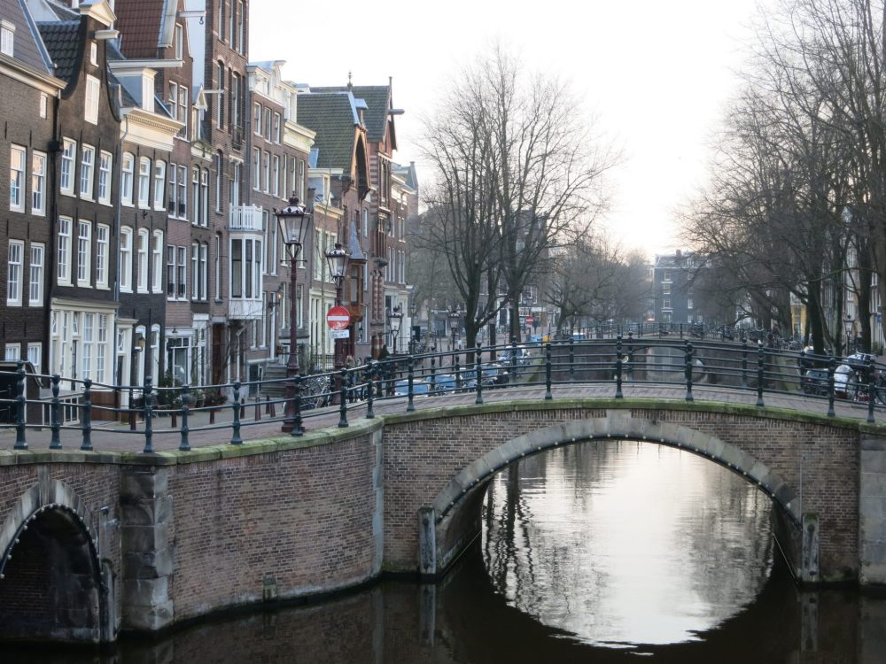 an Amsterdam canal view