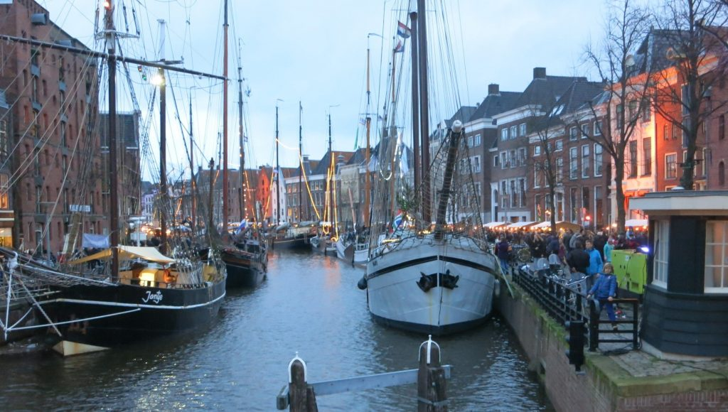 view of Hooge der A with ships
