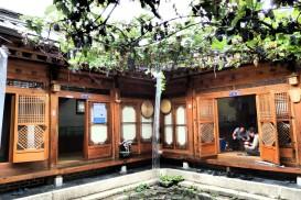 A hanok interior courtyard in Buckchon Hanok Village