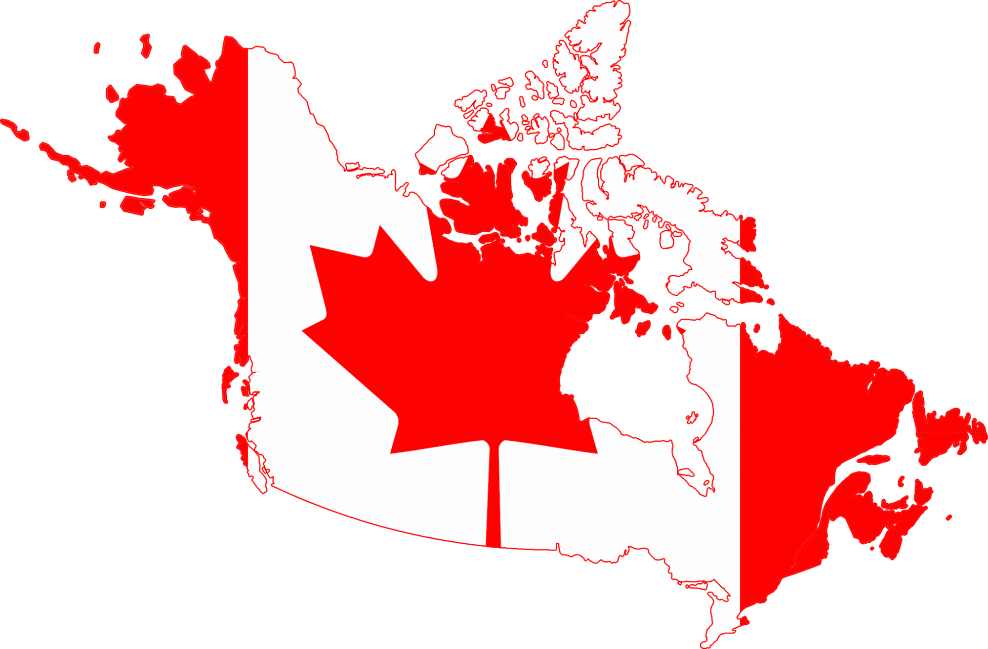 flag map of Canada by DrRandomFactor (Own work) [CC BY-SA 3.0 (https://creativecommons.org/licenses/by-sa/3.0)], via Wikimedia Commons