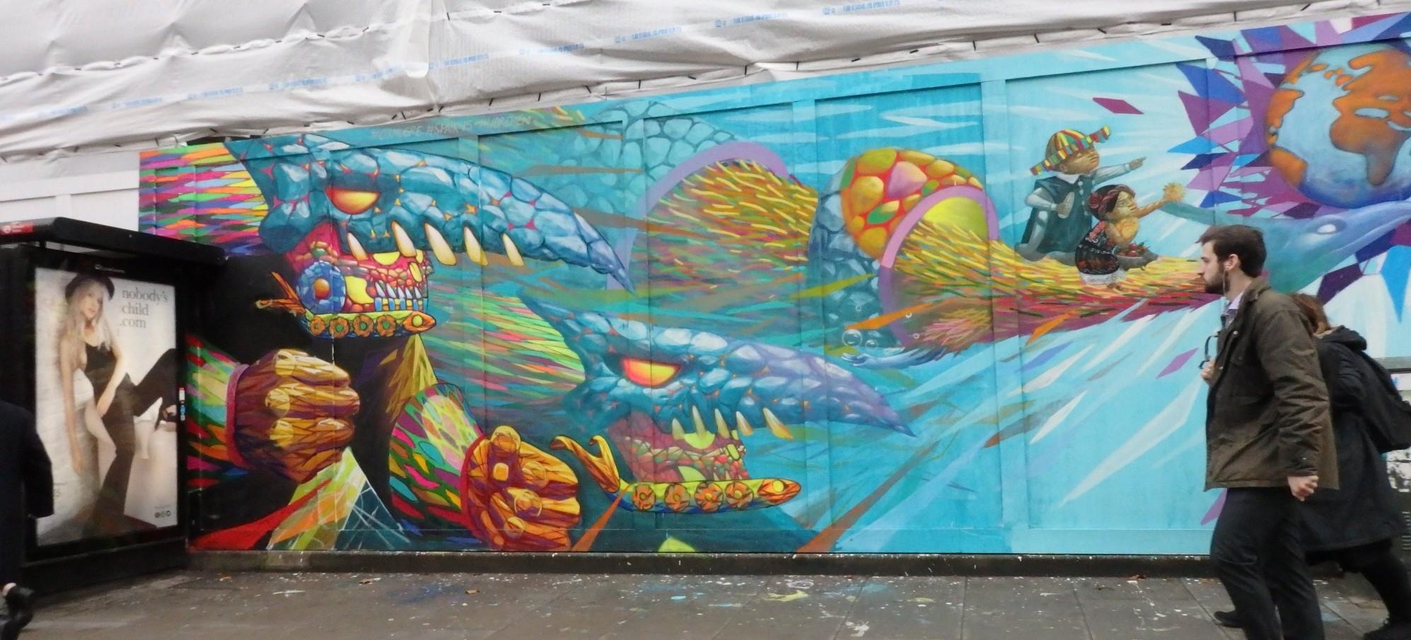 street art in Shoreditch, London