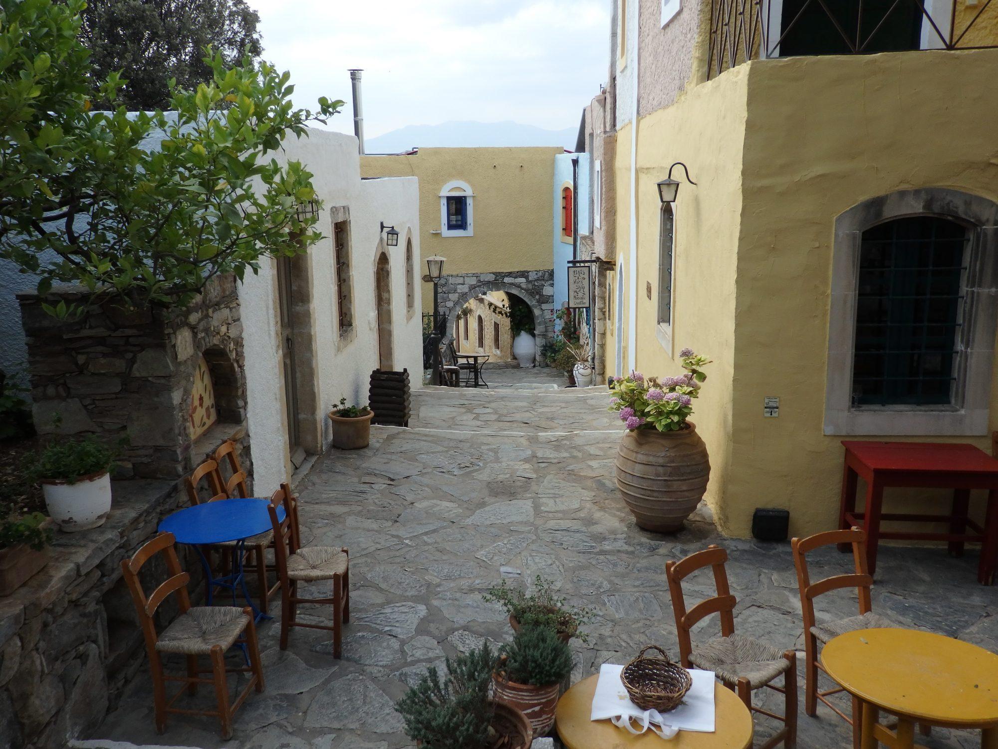 "A ""street"" in Arolithos Traditional Cretan Village"