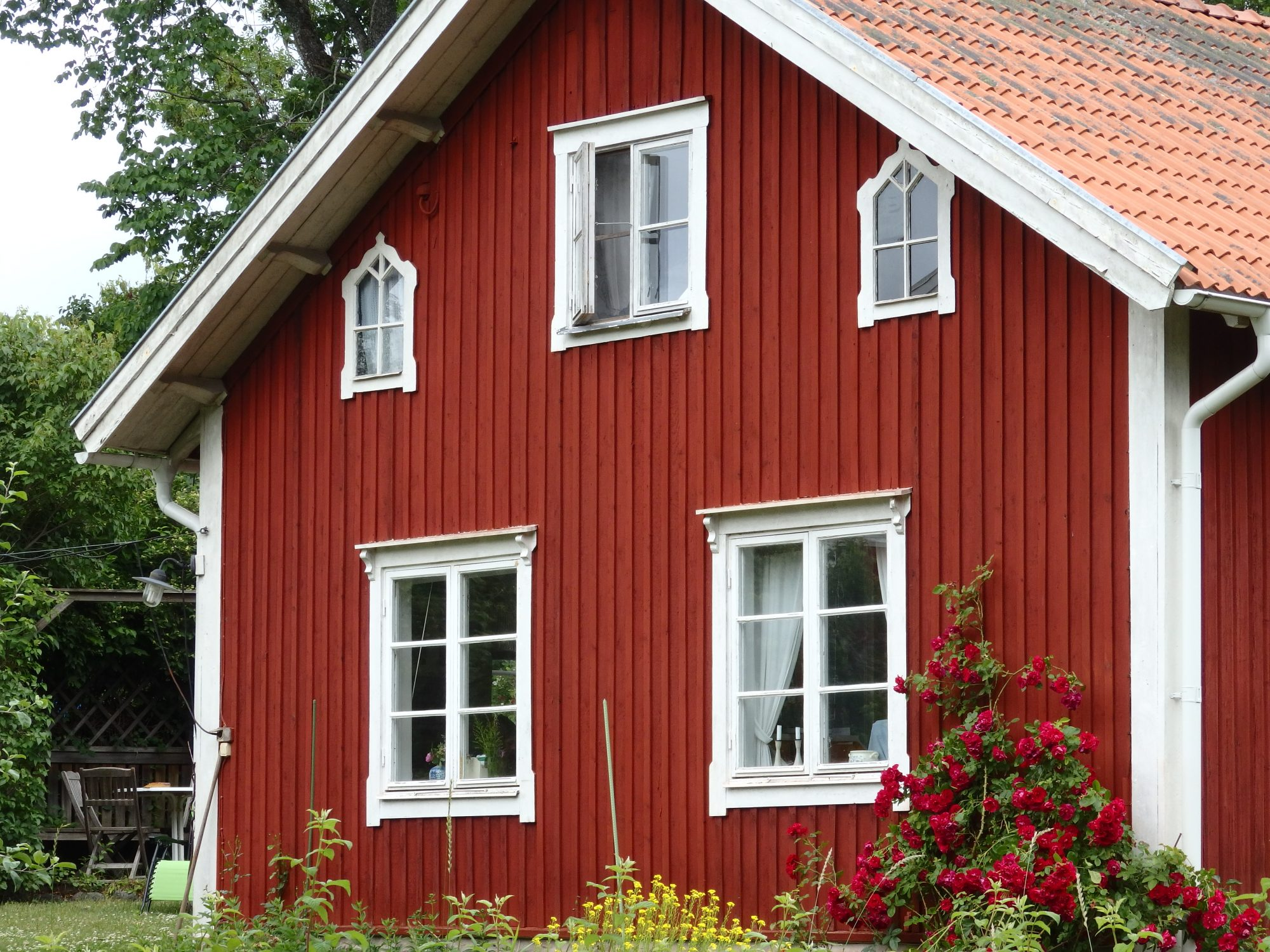 one of the historical buildings at Wira Bruk, in the characteristic red paint: Roslagen, Sweden