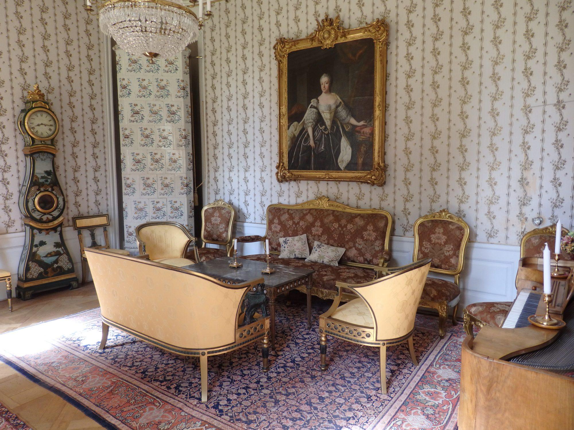 one of many lovely rooms inside Sparreholms manor, Sormland, Sweden