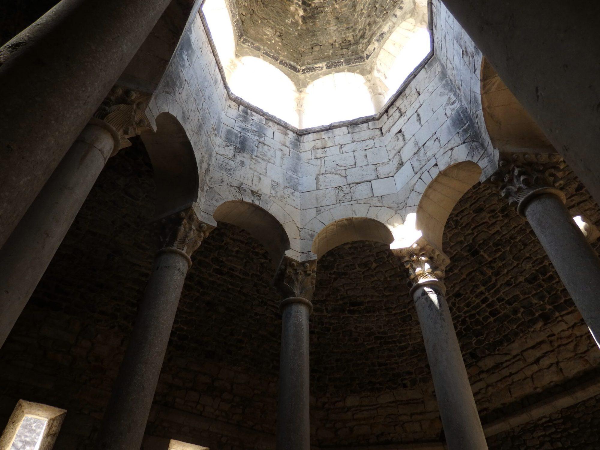 the Arab baths in Girona, Spain