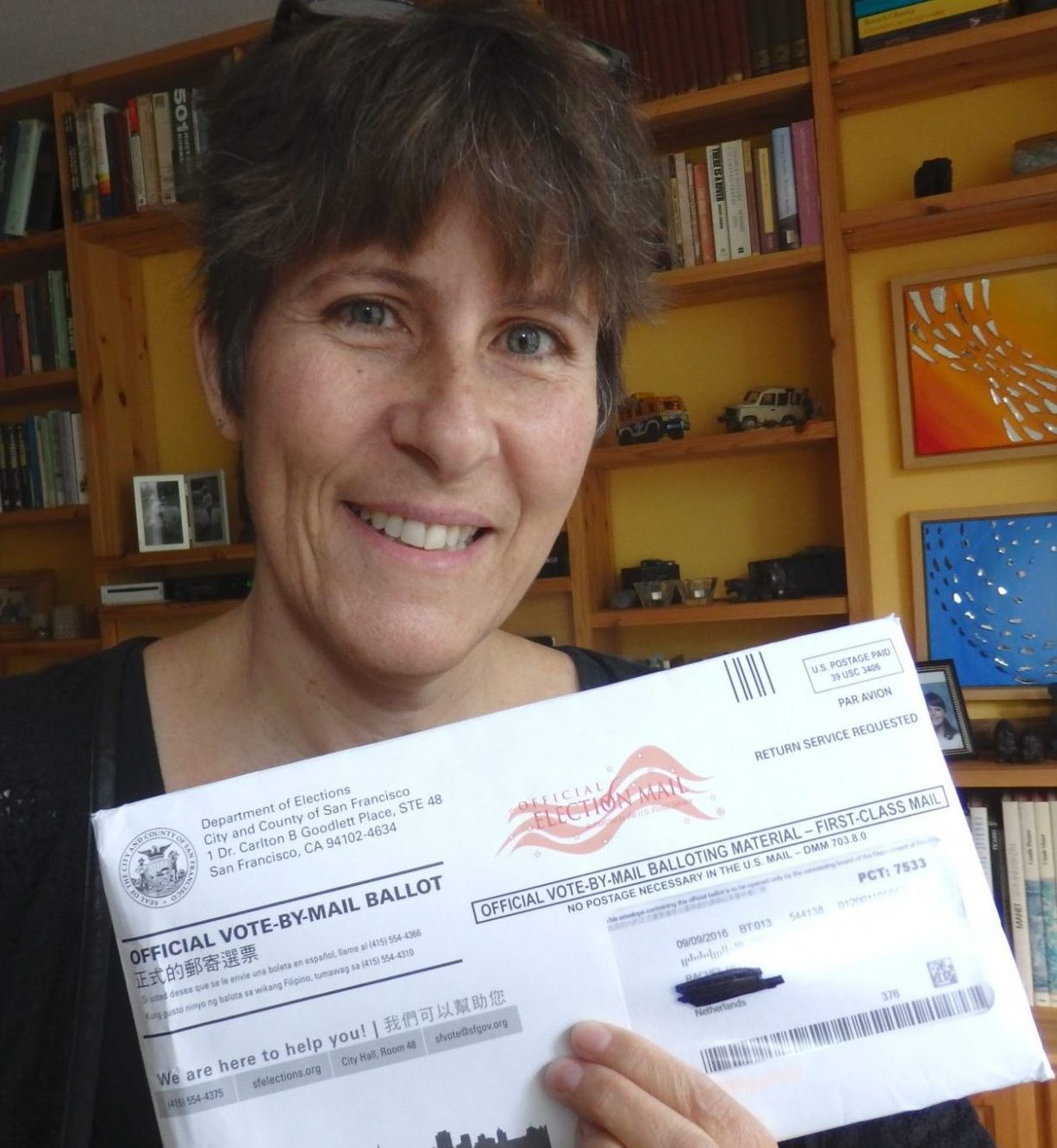 Me and my voter ballot