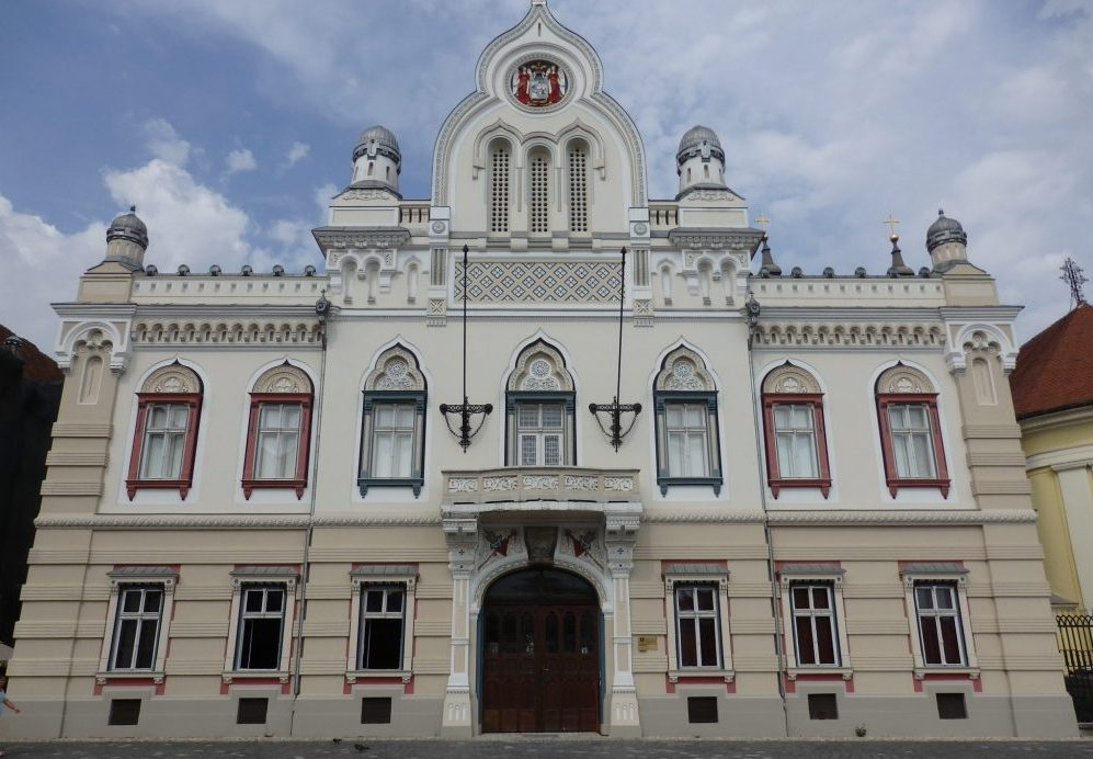 The Serbian Orthodox Vicarage on Unirii Square in Timisoara, Romania. Timisoara photo essay.
