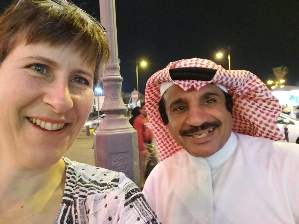 me with Nawaf Al Shammari in Kuwait City