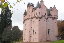 Craigievar Castle in Aberdeenshire is pastel pink!