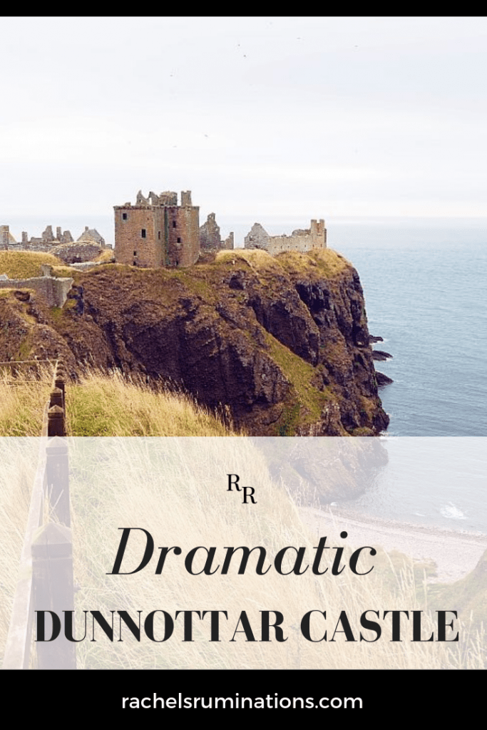 Dunnottar Castle, south of Aberdeen, Scotland, is known for its dramatic location on a cliff-edge point of land jutting into the North Sea. Click to read all about visiting! #dunnottar #castlesofscotland #dunnottarcastle #scotland