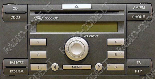 Ford Stereo Code 6000cd