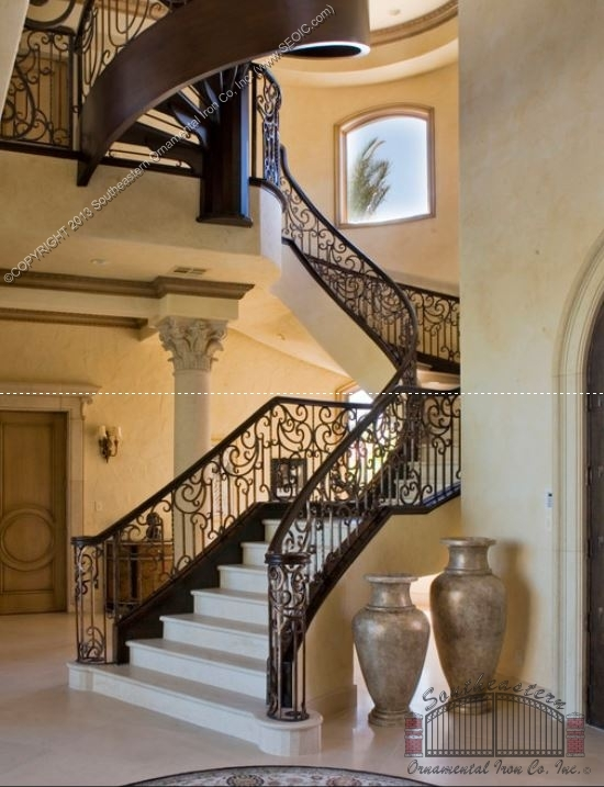 Southeastern Ornamental Iron Works | Decorative Wrought Iron Handrail | Forged Iron | Interior | Classic | Ornamental | Steel