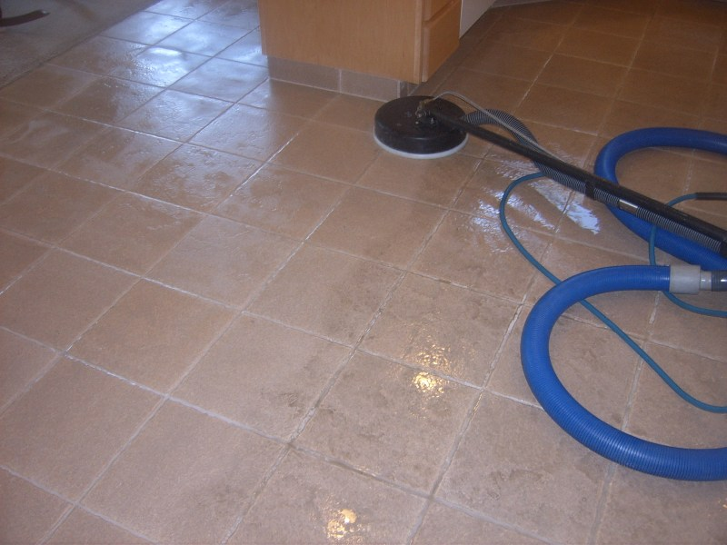Rainbow Carpet Cleaning   Ceramic Tile   Grout Cleaning Can you see the difference