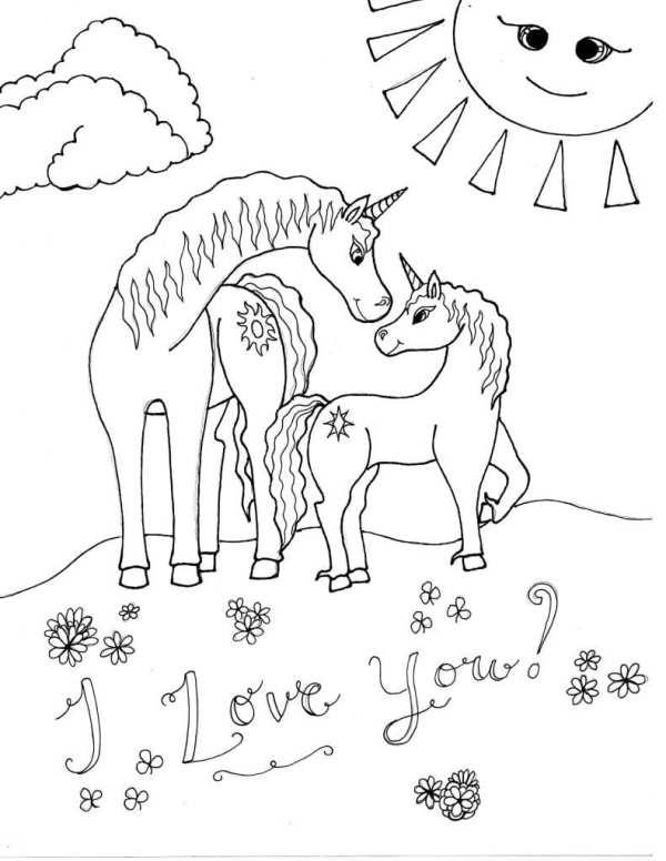 unicorn color pages # 31