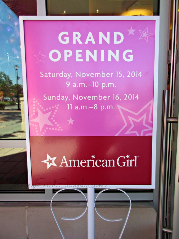 American girl Orlando opening