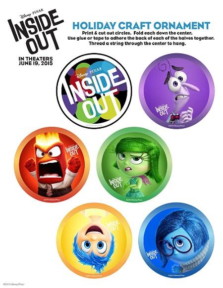 Disney inside out free kids printables