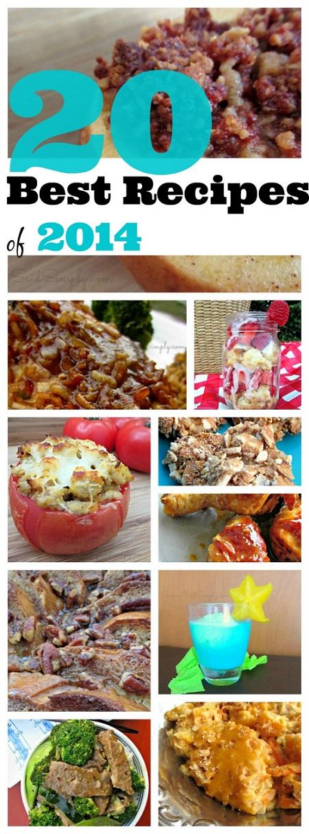 Top recipes 2014