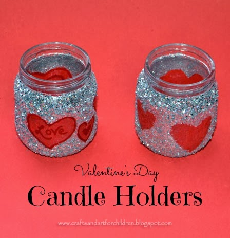Valentines day craft baby food jar