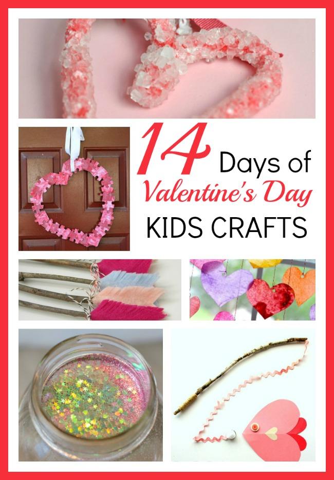 Valentines day kids crafts round up
