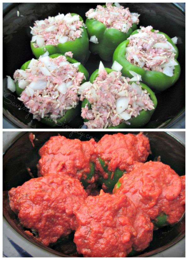 Crockpot stuffed peppers turkey