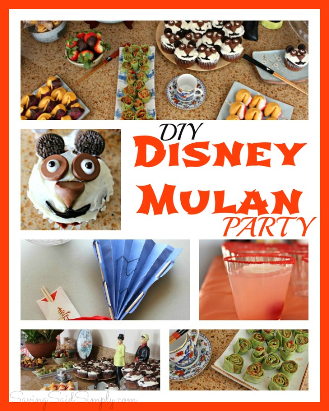 DIY Disney Mulan Party recipes, decorations, and activities. Perfect Disney party idea for kids. #Disney #PartyPlanning