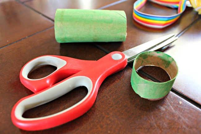 Toilet paper roll st patricks day craft
