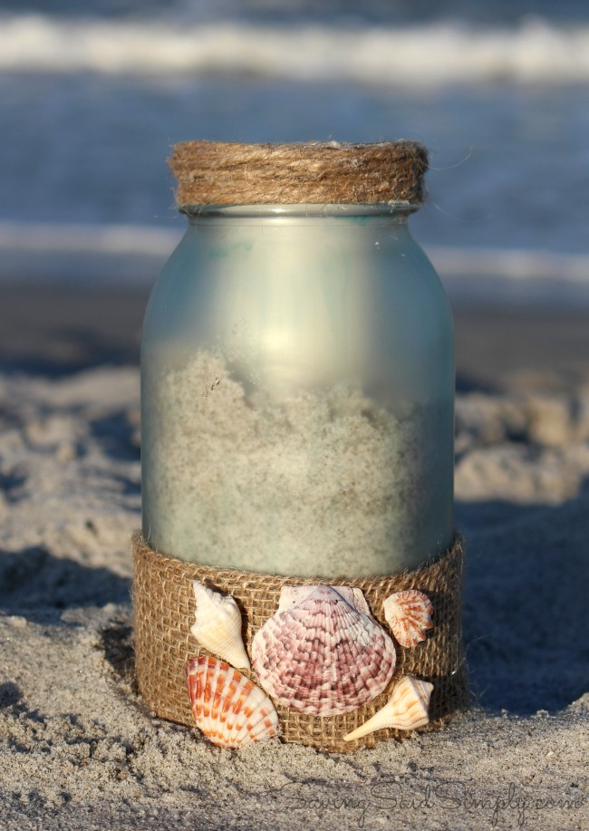 Painted sea glass candle holder diy