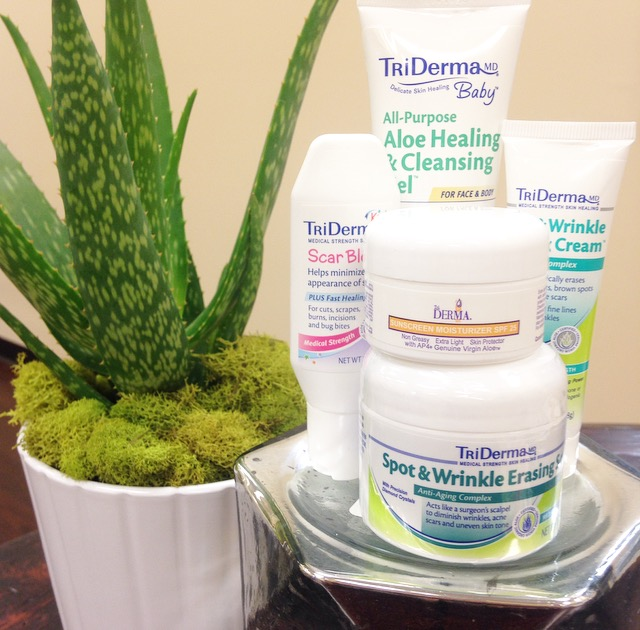 TriDerma skin products for family