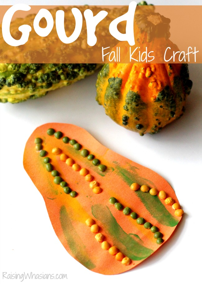 Gourd fall kids craft