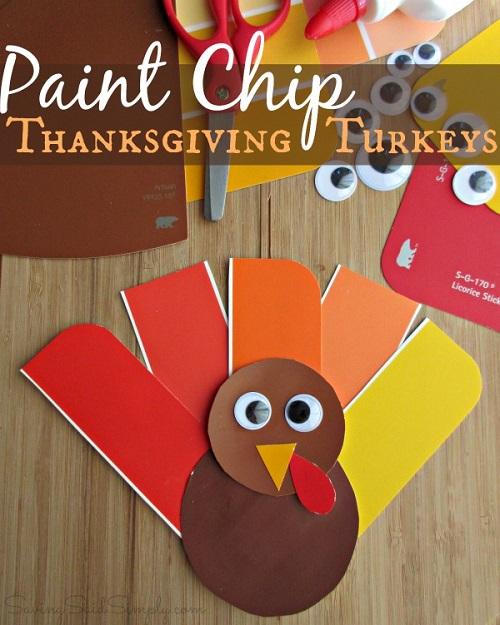 Thanksgiving turkey craft paint chip